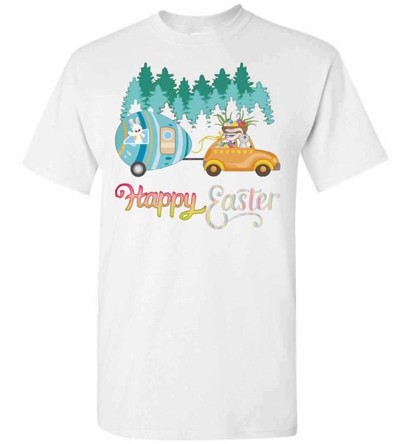 Camping Lover Happy Easter Men's T-shirt Inktee Store