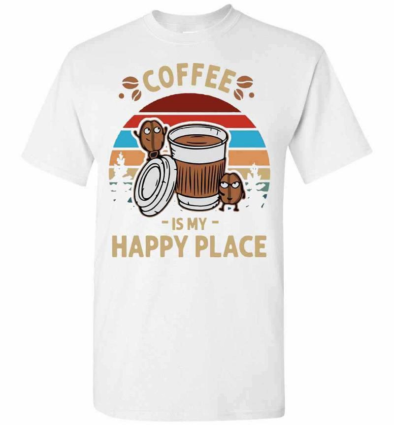 Coffee Is My Happy Place Vintage Men's T-shirt Inktee Store