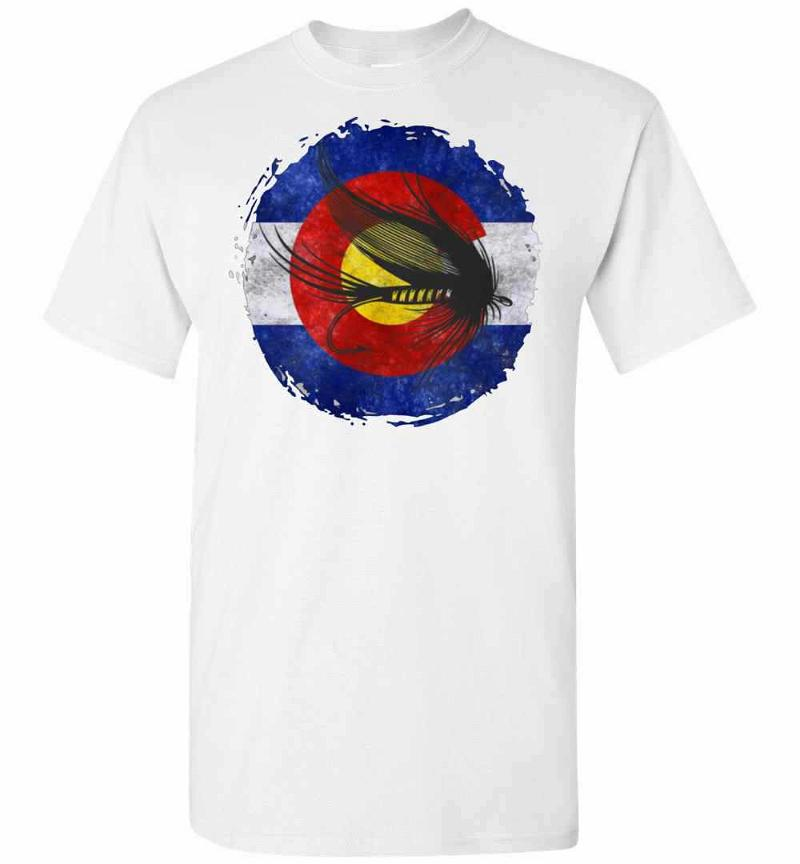 Colorado Flag With Fly Fishing Design For Men Woman Men's T-shirt Inktee Store