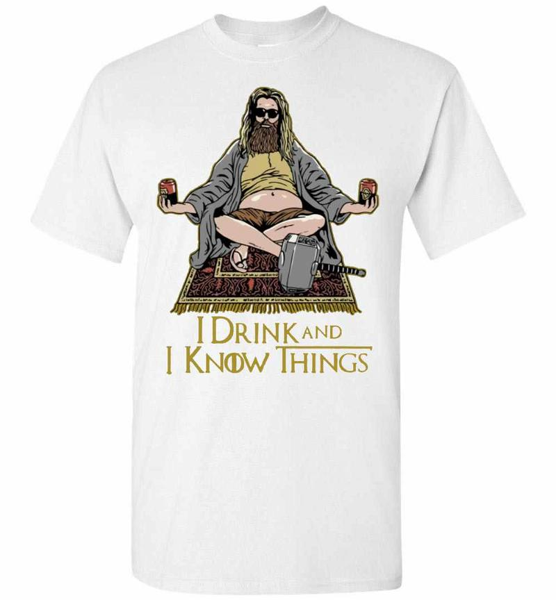 Fat Thor That's What I Do I Drink And I Know Things Men's T-shirt Inktee Store