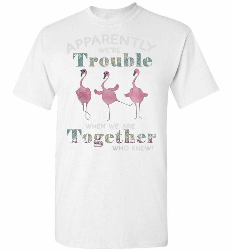 Flamingos Apparently Were Trouble When We Are Together Men's T-shirt Inktee Store