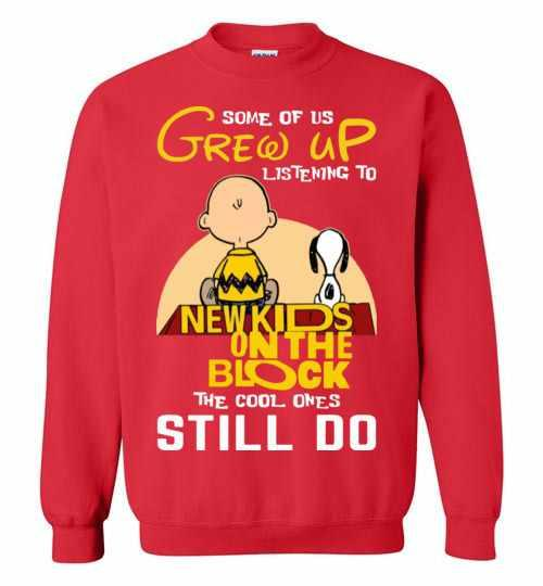 Some Of Us Grew Up Listening To Nkotb Snoopy And Peanut Sweatshirt Inktee Store