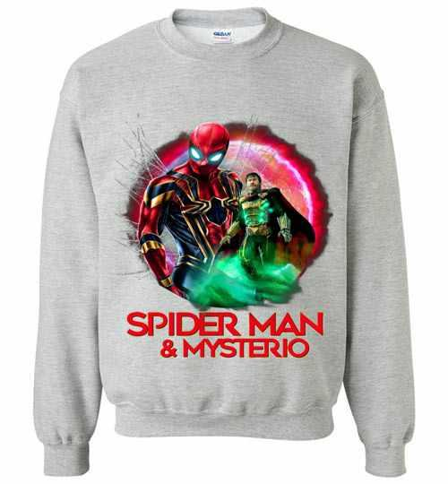 Spider Man Far From Home Spiderman And Mysterio Sweatshirt Inktee Store