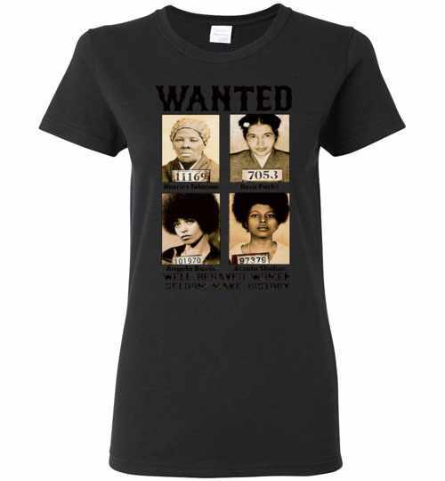 Wanted 11169 Harriet Tubman 7053 Rosa Parks 101970 Women's T-shirt Inktee Store