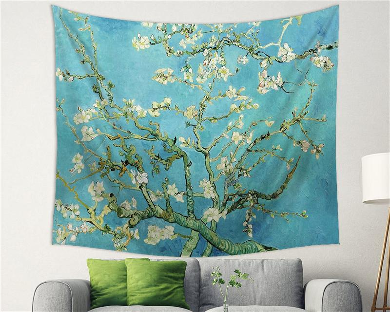 Branches With Almond Blossom Wall Art Decor Tapestry