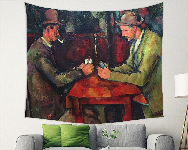 Card Players Paul Cezanne Backdrop Decor Tapestry