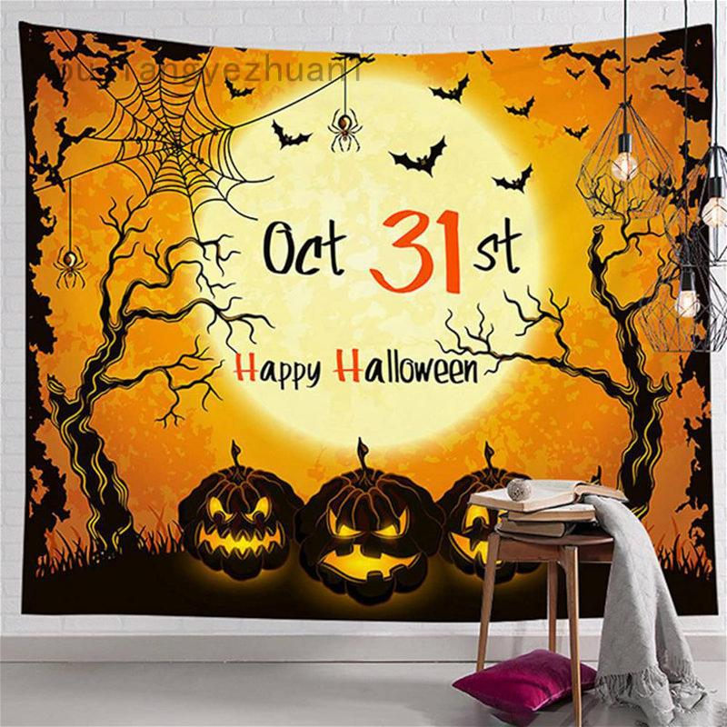 Happy Halloween October 31st Wall Art Decor Halloween Gifts Tapestry