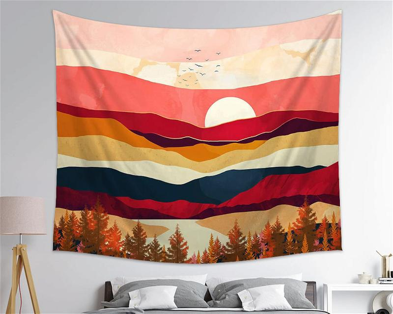 Live In The Sunshine Drink The Wild Air Nature Wall Art Tapestry