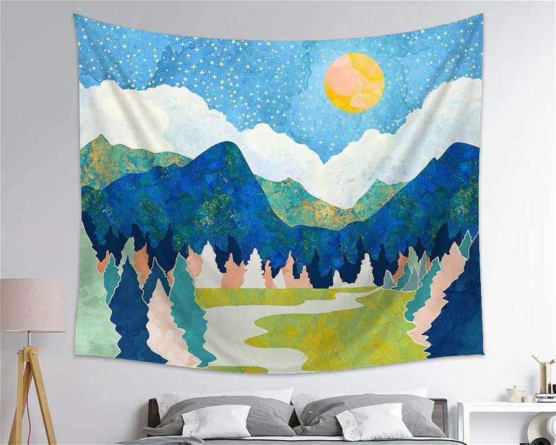 Look At Nature You Will See An Image Of Your Own Soul Nature Wall Art Tapestry