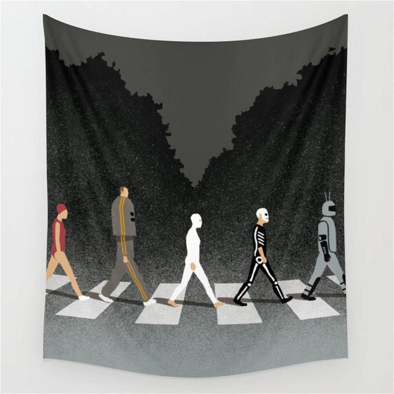 Monster The Abbey Road Halloween Wall Art Decor Halloween Gifts Tapestry