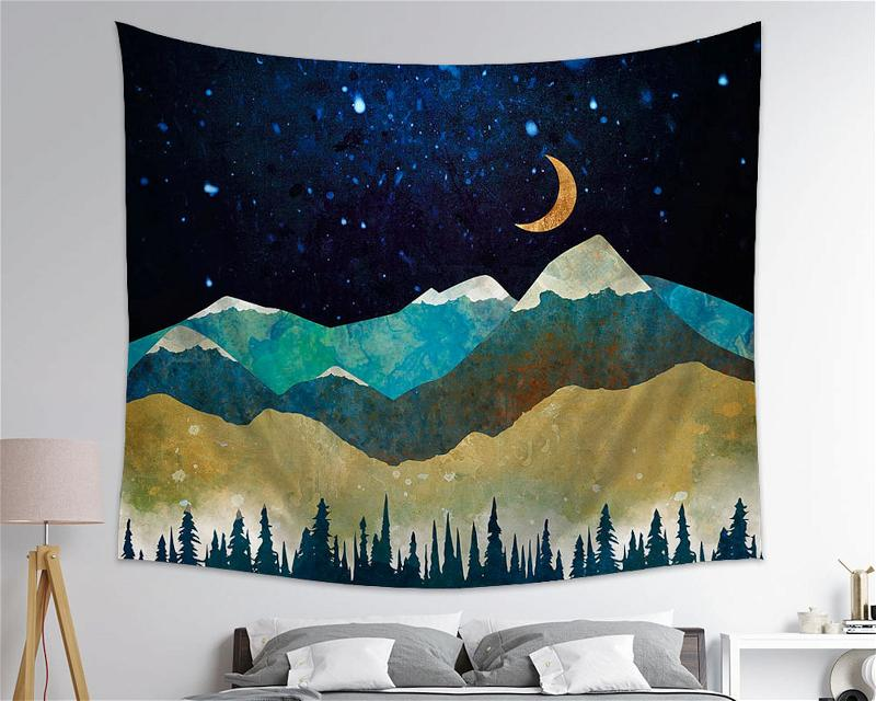 Nature Always Welcomes Us Mountain Wall Art Tapestry