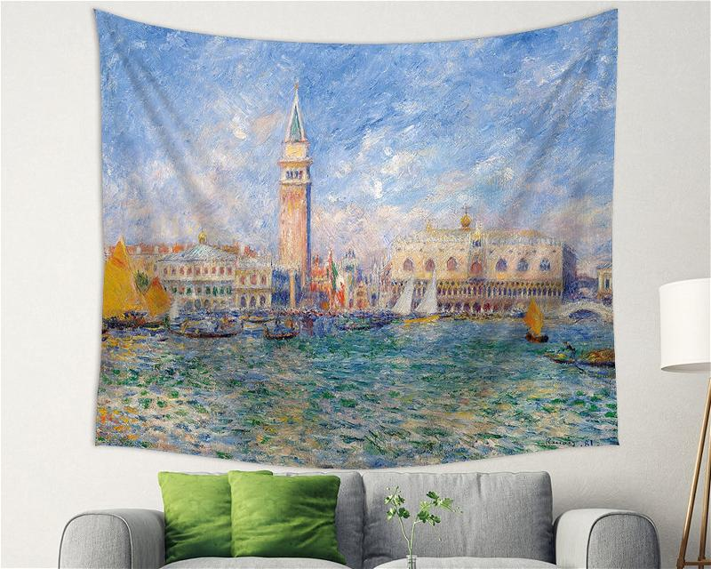 The Landscape Belongs To The Person Who Looks At It Renoir Backdrop Decor Tapestry